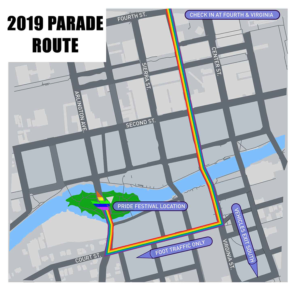 Parade route 2019